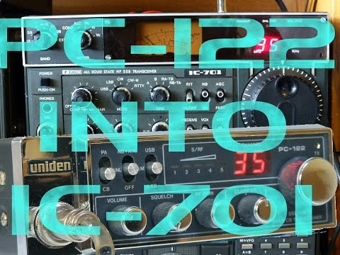 CQDX11.com CB Radio Uniden PC-122 into ICOM IC-701