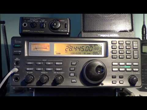 VP2ELY Amateur station in Anguilla on 10 meter band with Icom IC R8500