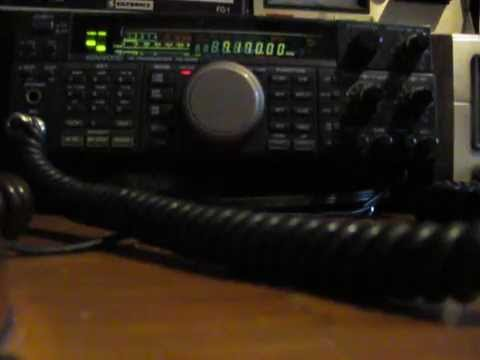 WA2CB KF2JD WA4D qso on 40 meters 7.170 ham radio. Kenwood TS 450S