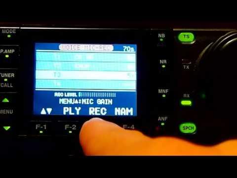 Icom 7000 Voice Recording Contest