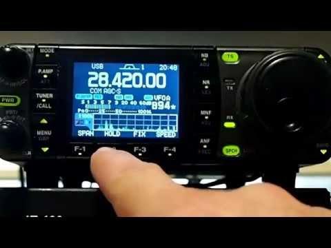 Chasing DX Icom 7000 Band Scope