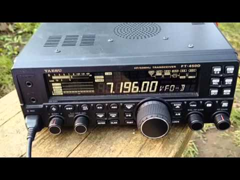 Yaesu FT450D + Buddipole 40meters receiving - Amateur Radio