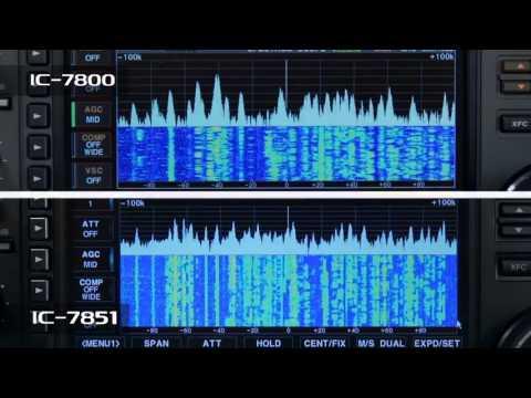 Icom IC 7851 Band Scope vs IC 7800 Band Scope