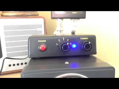 CommRadio CR-1a with AOR LA400 using Kenwood SP-23 speaker