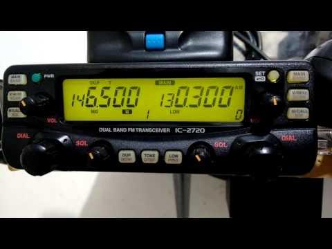 Icom IC- 2720 Recepção em AM faixa de aviação.