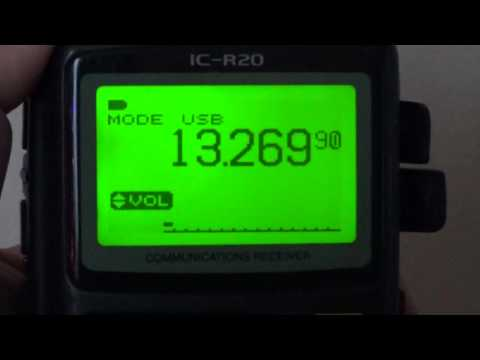 Gander Radio Volmet Icom IC R20 on 13270 10051 and 6604 Khz USB Shortwave