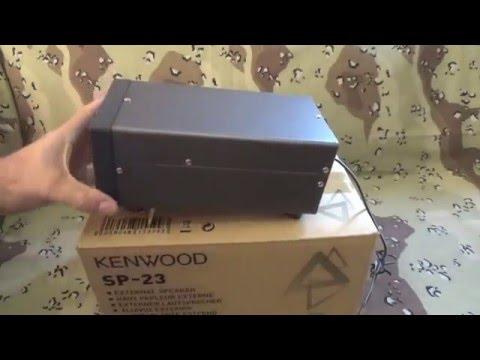 Testing The Kenwood SP-23 External Speaker 1-2-2016