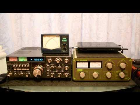 YAESU FT 102 HF TRANSCEIVER 9A2YM CALLING CQ CQ CQ ON 18MHZ BAND
