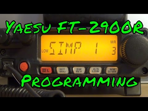 Programming the Yaesu FT-2900R