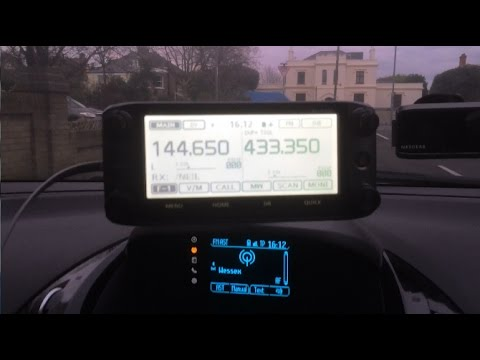 G0SEC in the car with the icom 5100 Dstar quick contact with Japan.