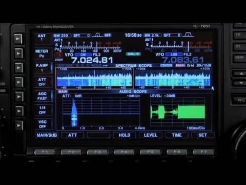 Icom IC 7851 Audio Scope Operation