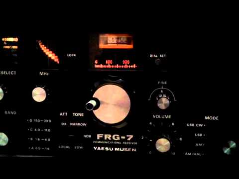 Radio New Zealand International received on Yaesu FRG 7 vintage receiver in Kolkata