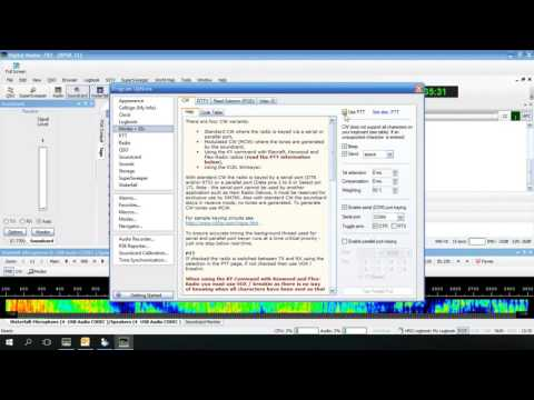 Icom 7300 HRD DM780 PSK31, RTTY, CW Setup