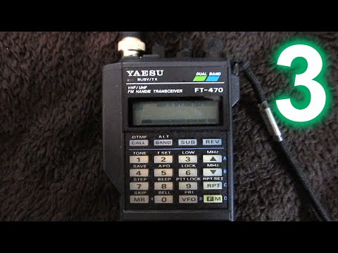 Yaesu FT-470 handheld amateur radio transceiver, Part 3: Physical overview