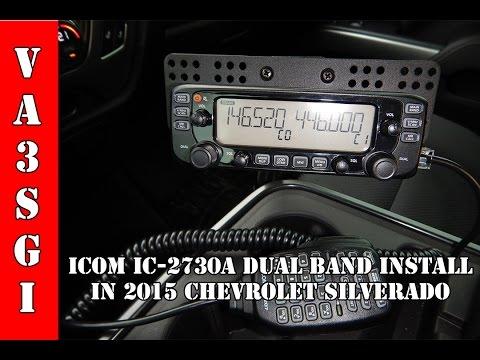 Icom IC-2730a Ham Radio Install 2015 Chevy Silverado