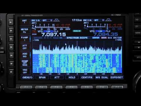 Icom IC-7851 Mouse Frequency Setting Operation