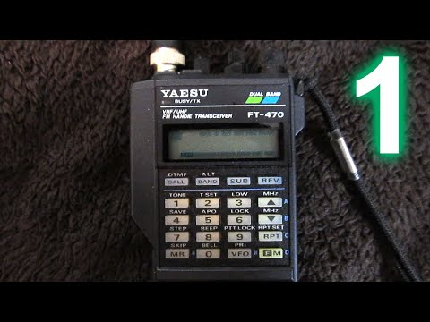 Yaesu FT-470 handheld amateur radio transceiver, Part 1: Introduction