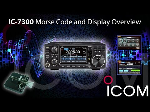 Icom IC-7300 Morse Code and Display Overview with ML&S