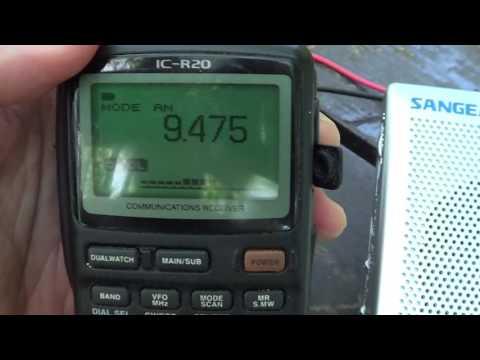 WTWW Icom IC R20 with Ham radio news on DXpedition
