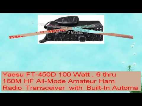 Yaesu FT450D 100 Watt  6 thru 160M HF AllMode Amateur Ham Radio Transceiver with BuiltIn