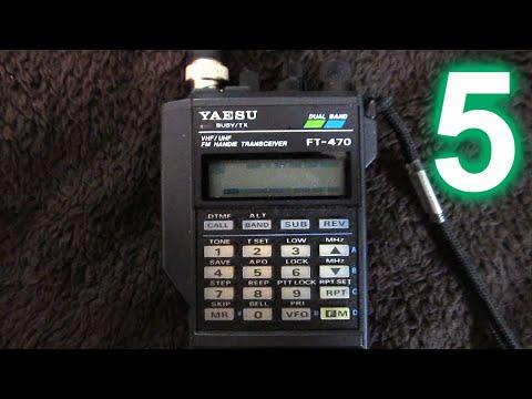 Yaesu FT-470 handheld amateur radio transceiver, Part 5 (final): RX/TX demo, advertisements