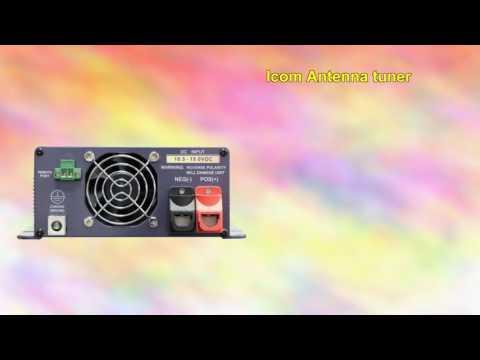 Icom Antenna tuner long wirewhip outdoor and Ham