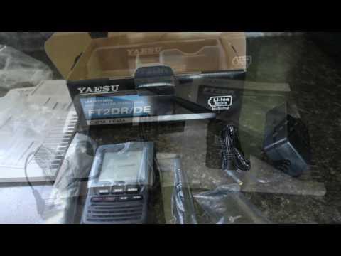 Yaesu FT2DR Ham Radio Unboxing
