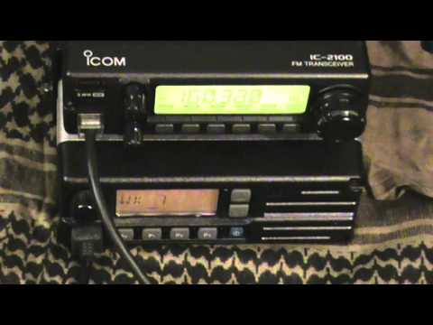 Icom VHF mobiles, IC-2100 2 meter and IC-F1020 commercial mobile.