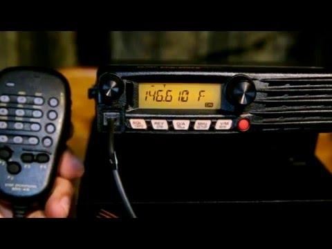 Yaesu FTM 3200DR 2 Meter VHF Fusion Ham Radio. Very basic set-up and operation.