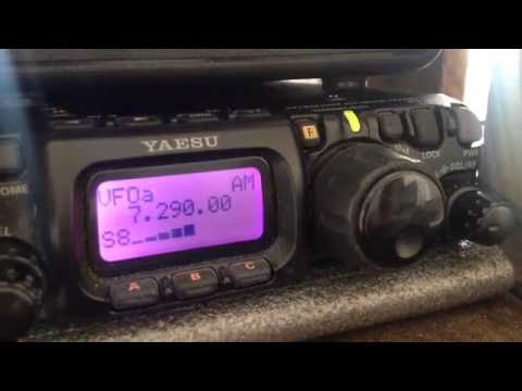 40m AM Ham Radio Transmission Received on Yaesu FT-817