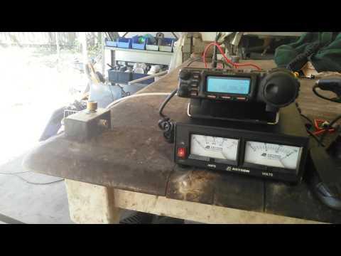 Ham radio boafeng  UV5-R  on simplex Yaesu 857D