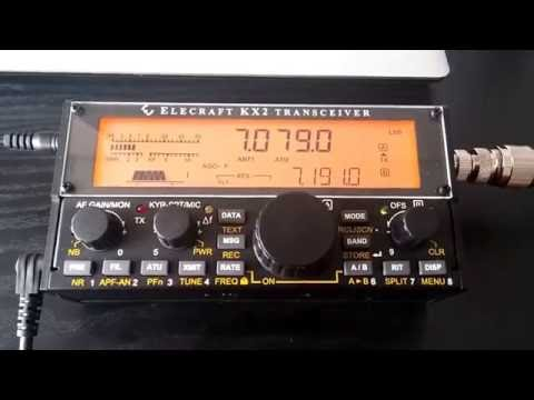 Elecraft KX2 Saving a voice message, and message repeat