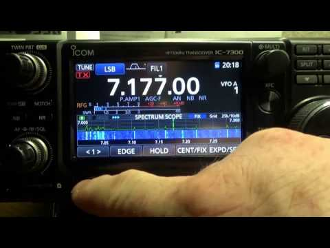 Setting the time and the UTC offset on the ICom 7300.