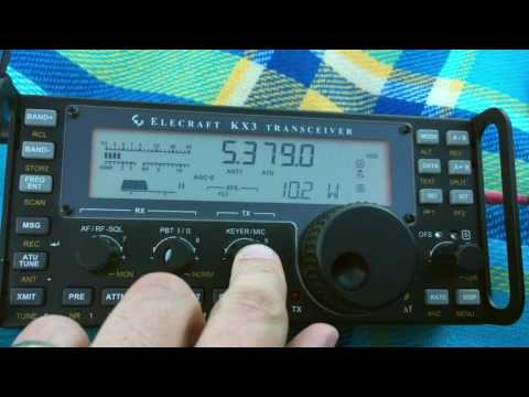 100mW QRPp on 60m SSB Using the Elecraft KX3