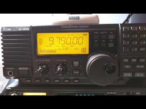 Icom IC-R75 with UT-106 DSP module installed - Noise Reduction and Auto Notch Function