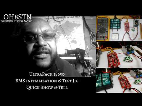 DIY Yaesu FT-817ND 48wh Battery Pack - UltraPack BMS initialization & Test Jig