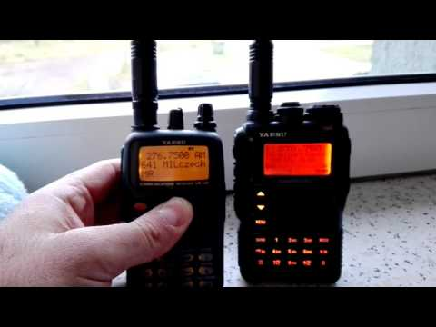 Yaesu VR 500 vs VX8 on AIR MILITARY frequencies