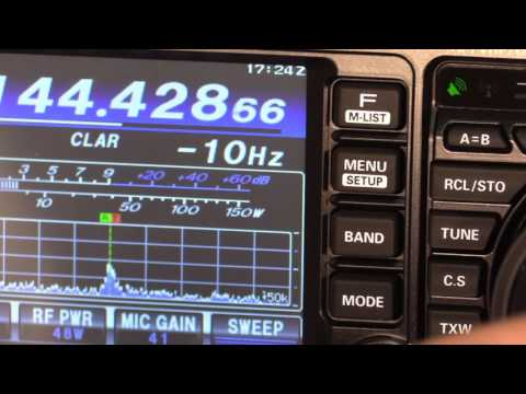 YAESU NEW FT-991A Colour Screen and Waterfall Demonstration