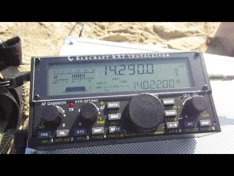 QSO with HB9NBG/P Swiss Alps with Alex Loop & KX2 29.07.2016