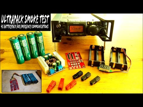 DIY Yaesu FT-817ND 48wh Battery Pack - UltraPack  SMOKE TEST