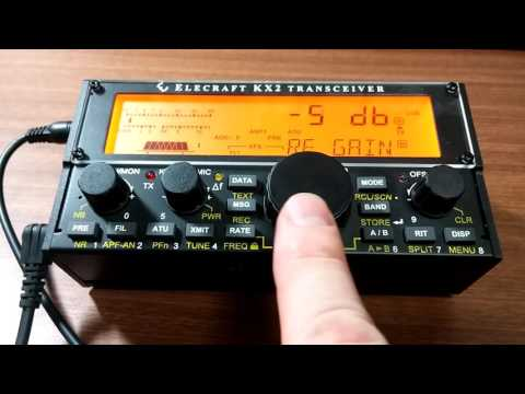 Elecraft KX2: RF Gain and assigning functions to PFn button for fast access