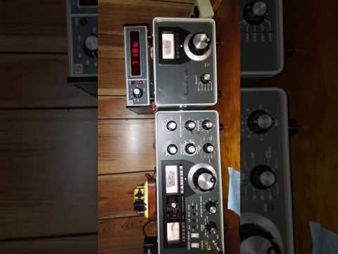 Early bird net 7.186mhz ham radio 40 meters 1975 yaesu ft101b