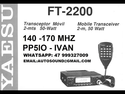 TRANSCEPTOR RADIO YAESU FT - 2200 - VHF 140 - 170 MHZ JAPAN DISPLAY REVERSO