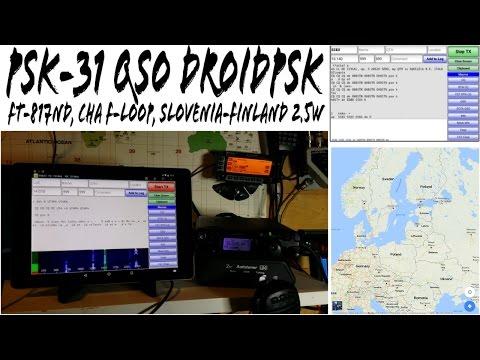 QRP QSO PSK31 Yaesu FT-817ND Chameleon F-Loop S58X Slovenia