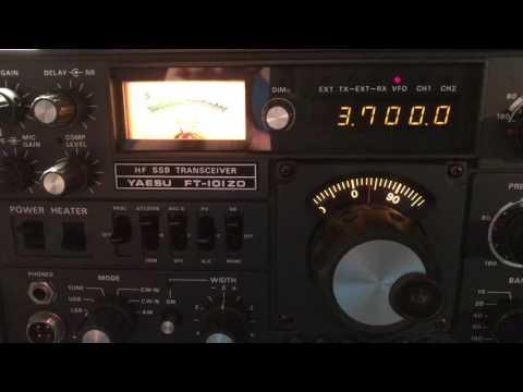 Alberta Public Service Net - 80m SSB HF Net - 3700 KHZ on Yaesu FT 101 ZD