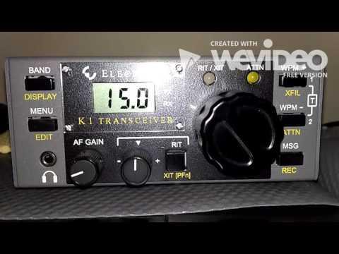 Elecraft K1 in 40 meters CW - IW2NOY