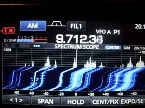 icom 7300- AM-short wave reception(RADIO ROMANIA 9.50MHZ) In UK