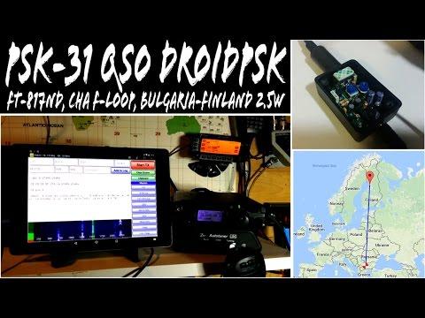 QRP QSO PSK31 Yaesu FT-817ND Chameleon F-Loop LZ2RR Bulgaria