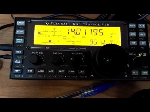 Elecraft KX3 CW contact with EW6F with 0,5 w - 500 mW - QRP - IW2NOY