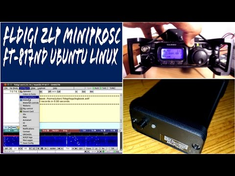 FLDigi MiniProSC FT-817ND Quick Setup Guide on Ubuntu Linux EP04